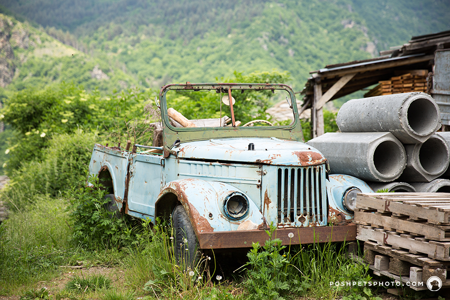 old abandoned truck in Bulgaria