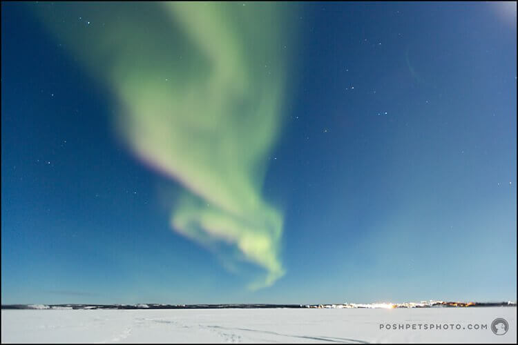 Photographing the Northern Lights in Yellowknife, Northwest Territories.