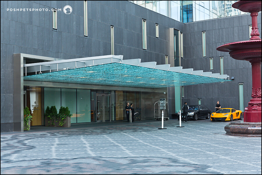 main entrance of Four Seasons Hotel in Toronto