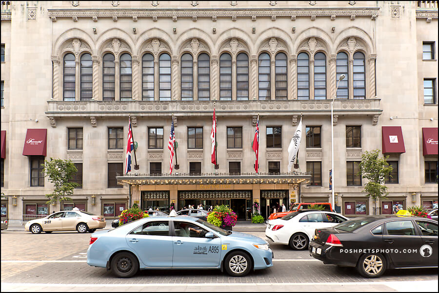 Entrance to Fairmont Royal York Hotel in Toronto