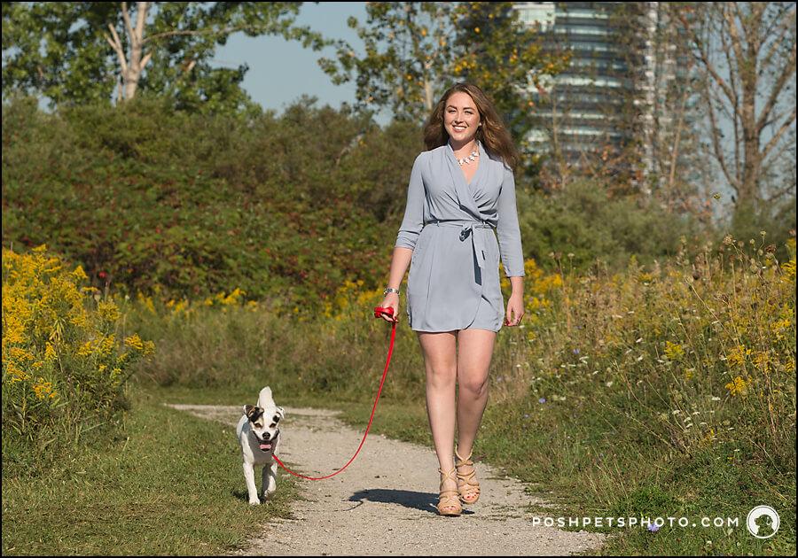 Urban dog photography in Toronto, Canada