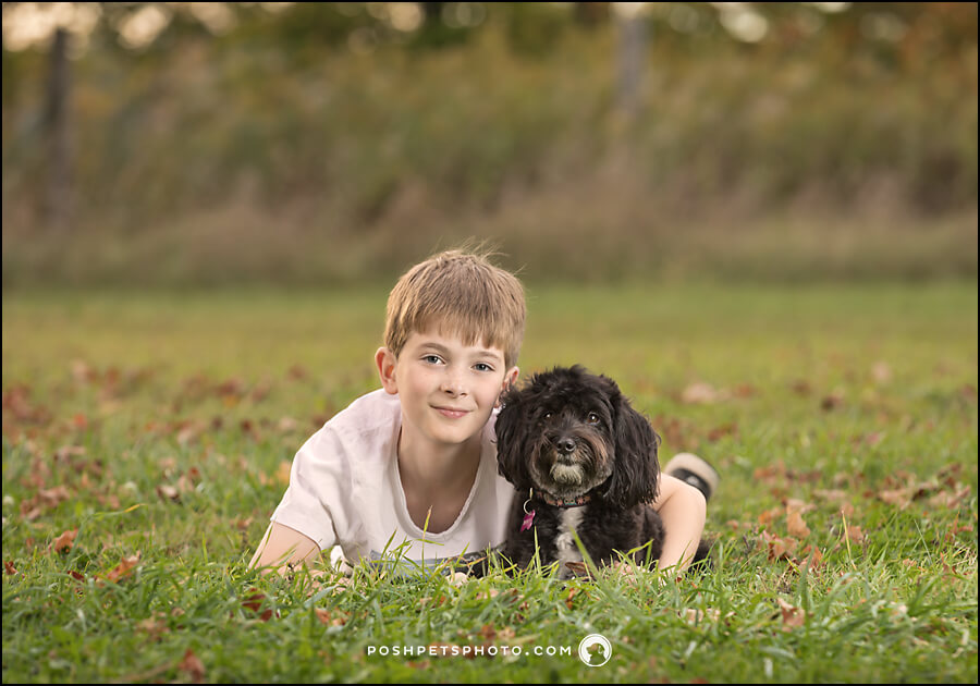 hamilton dog photographer with boy