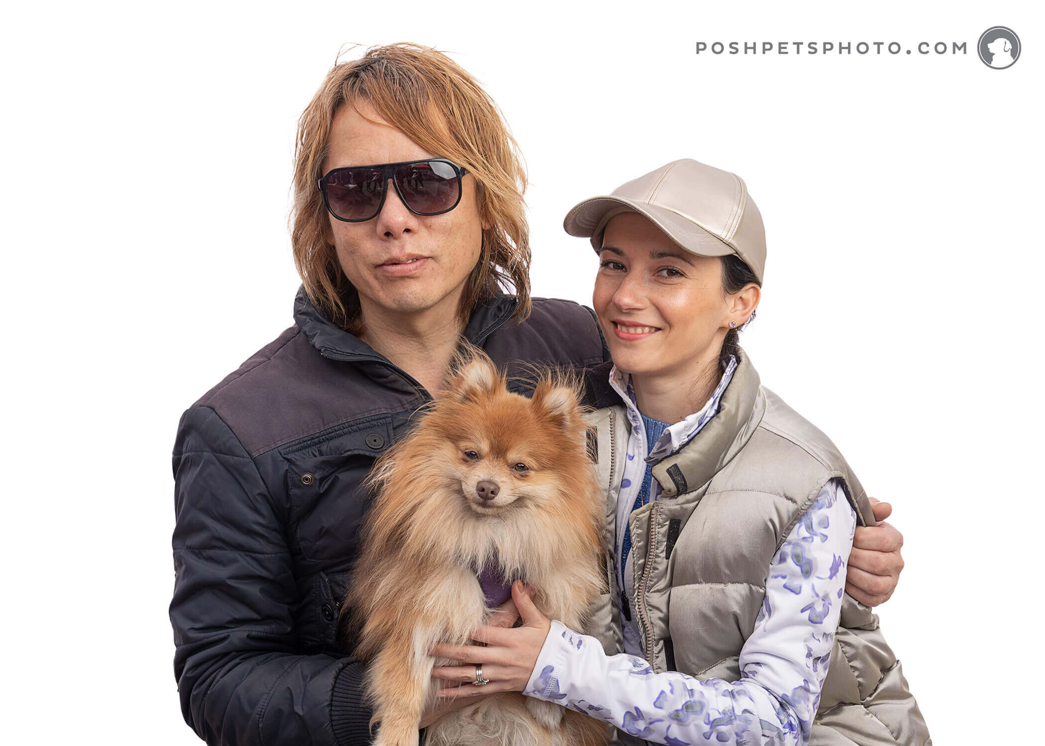 Pomeranian and couple
